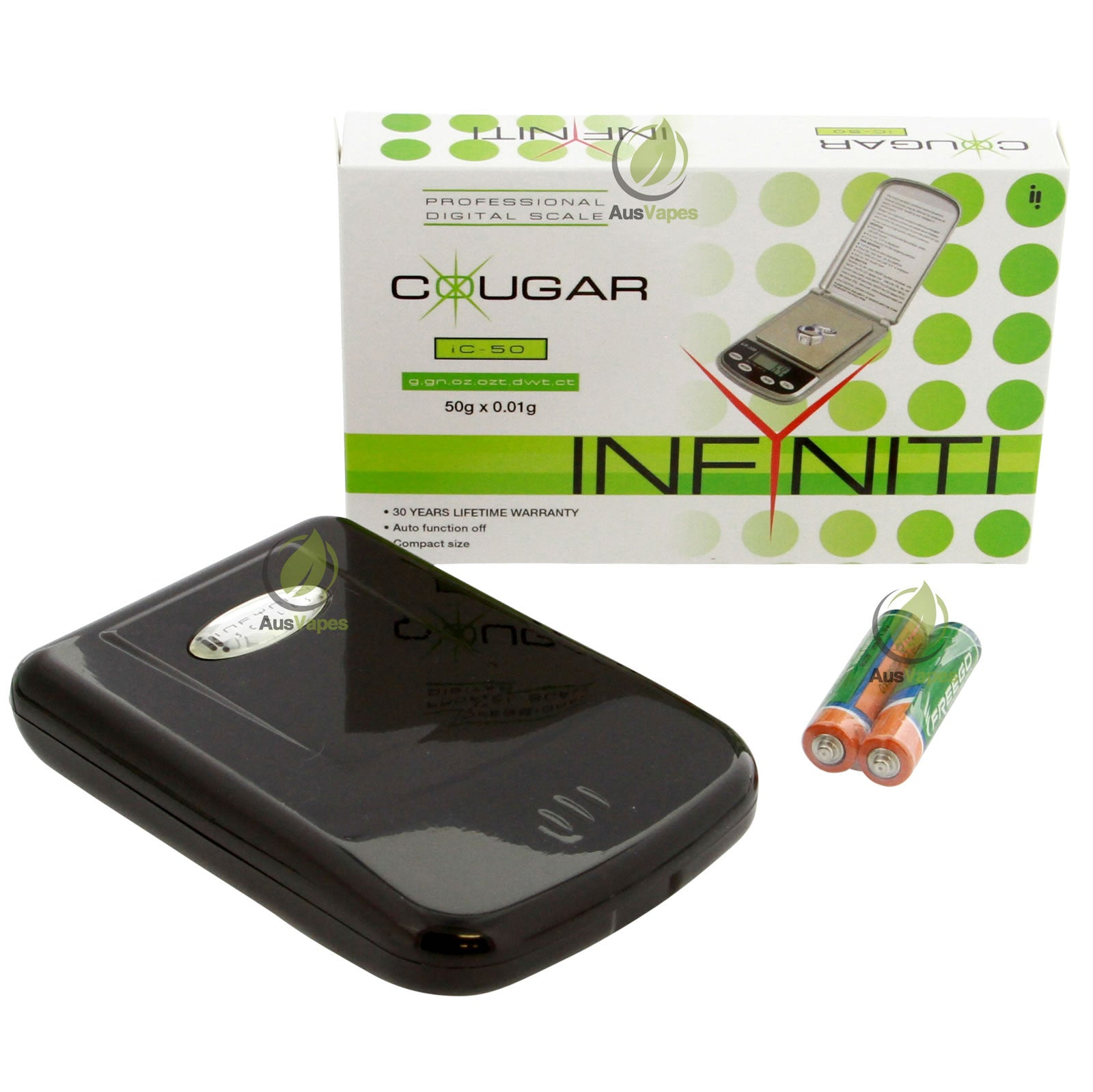 DISCONTINUED Infyniti IC-50 Cougar Digital Pocket Scale 50g x 0.01g