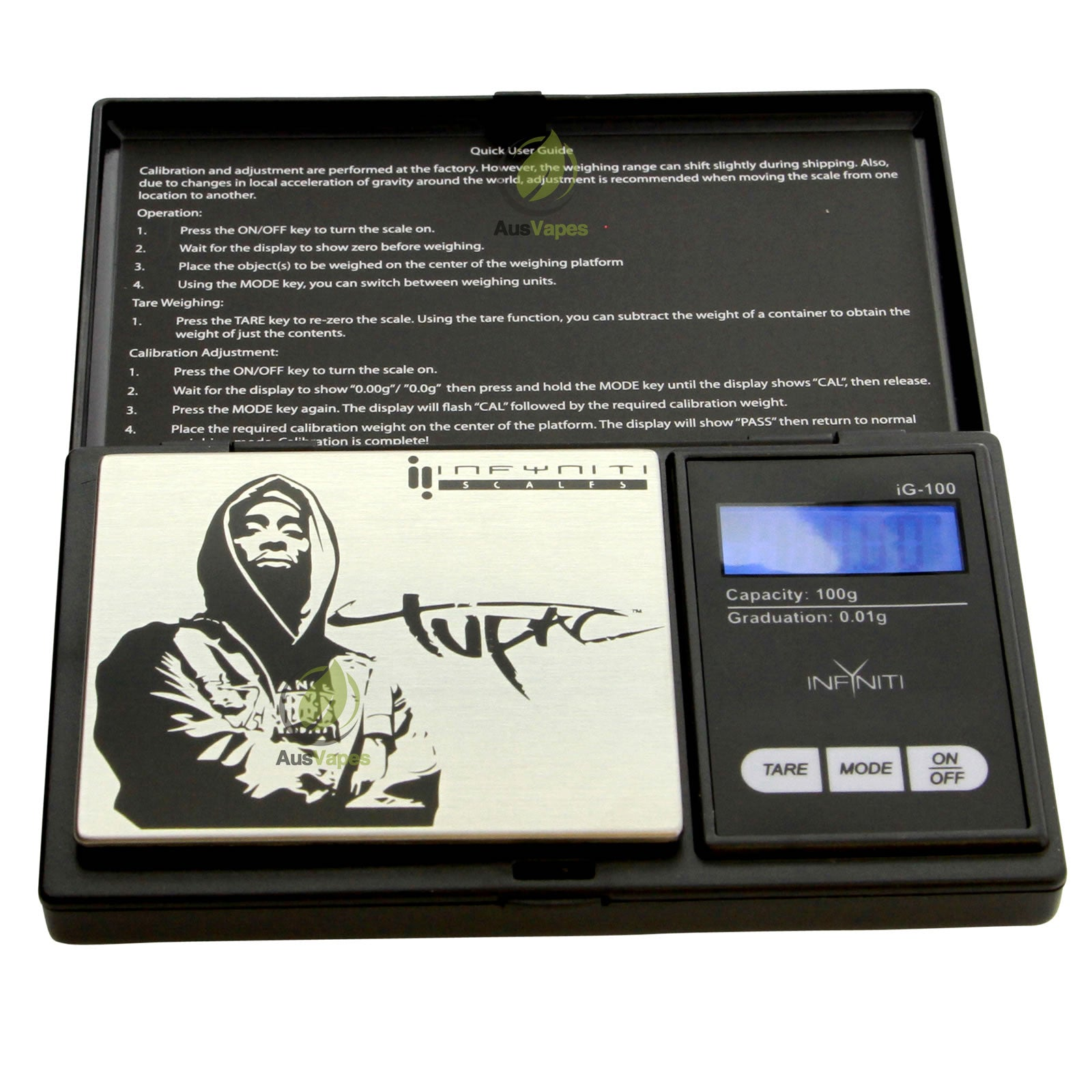 DISCONTINUED Infyniti Tupac G-Force Digital Pocket Scale 100g x 0.01g
