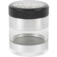 Kannastor 63mm CLEAR TOP 4pc Grinder/Sifter/Jar