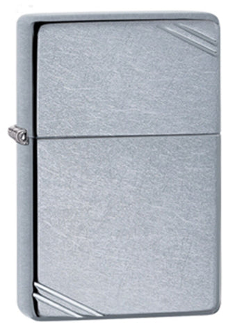 Zippo Vintage Street Chrome Lighter - Slim