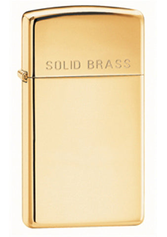 Zippo Classic High-Polished Brass Etch Lighter - Slim