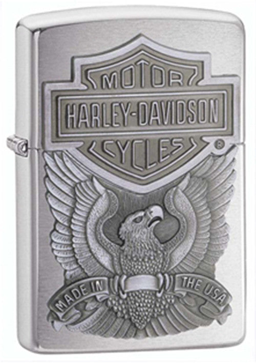 DISCONTINUED Zippo Harley-Davidson Made in USA 98 Pewter Lighter