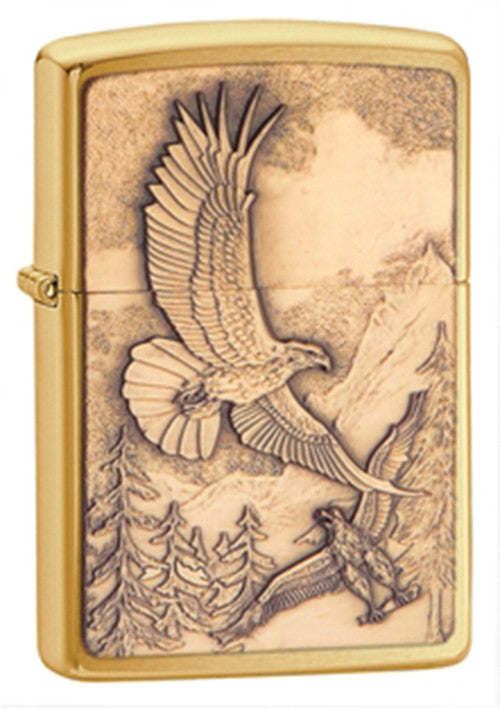 DISCONTINUED Zippo Where Eagles Dare Brass Lighter