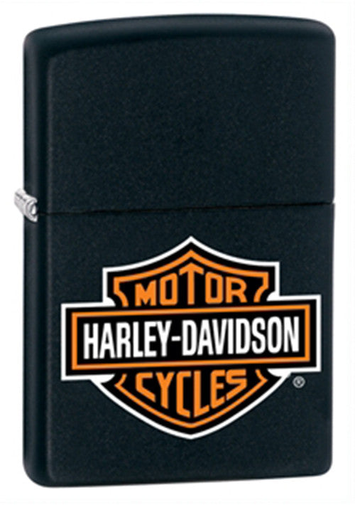 DISCONTINUED Zippo Harley-Davidson Black Matte Lighter