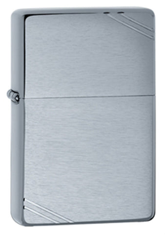Zippo Vintage Brushed Finish Chrome Lighter