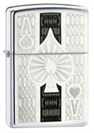 Zippo Ace High-Polished Chrome Lighter