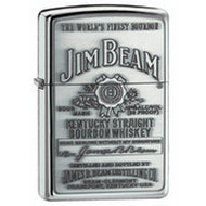 Zippo Jim Beam Full Label Pewter Chip Lighter