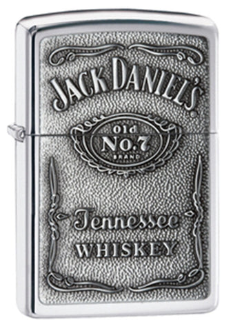 Zippo Jack Daniels Label Pewter Chip Lighter