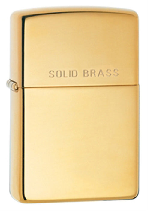 DISCONTINUED Zippo Classic High-Polished Brass Etched Lighter