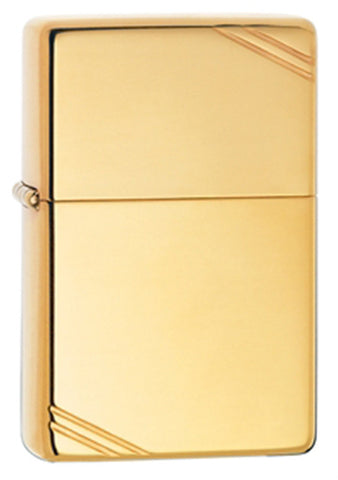 Zippo Vintage High-Polished Brass Lighter