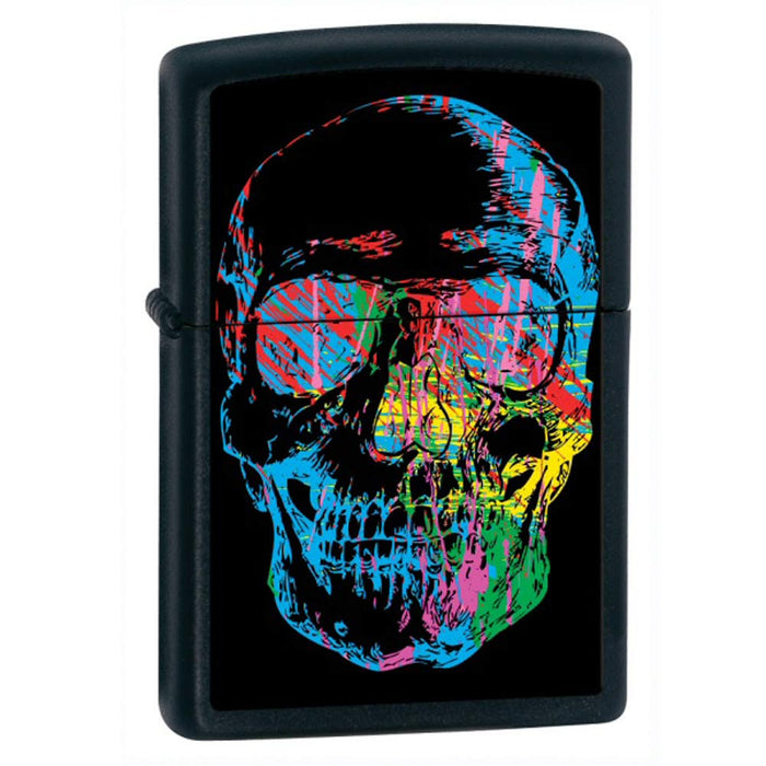 DISCONTINUED Zippo Skull Black Matte Lighter