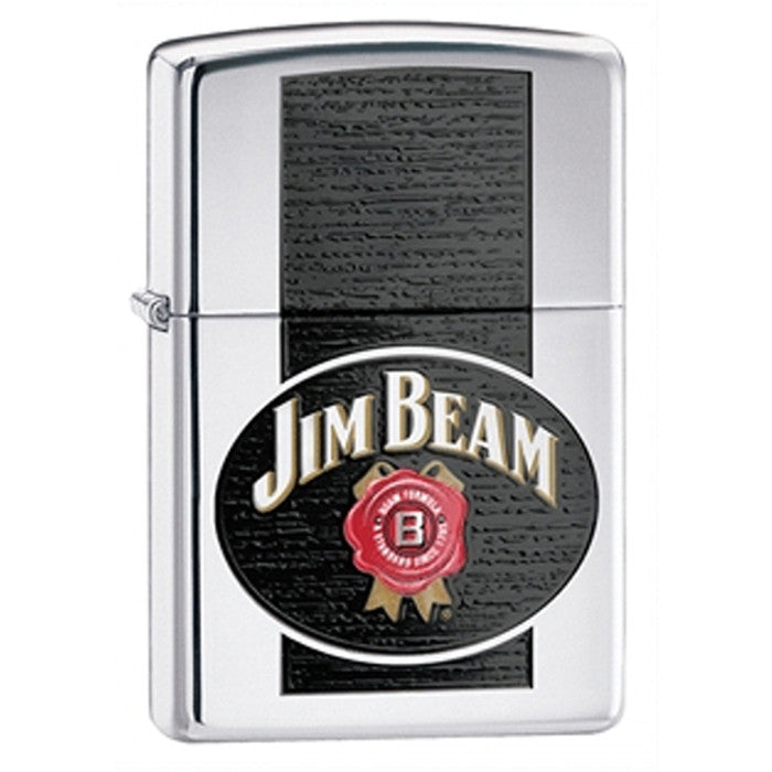 DISCONTINUED Zippo Jim Beam High-Polished Chrome Lighter