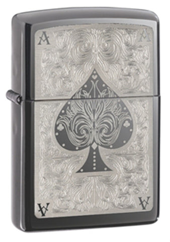 Zippo Lucky Ace Black Ice Lighter