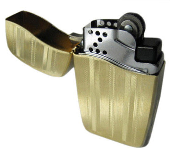 DISCONTINUED Zippo Blu Vertical Gold Ribbon Lighter