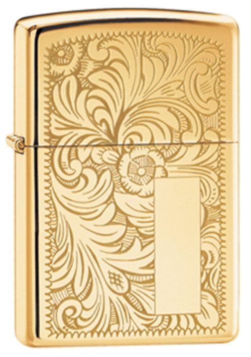 DISCONTINUED Zippo High-Polished Brass Venetian Lighter