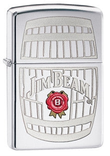 Zippo Jim Beam Barrel High-Polished Chrome Lighter