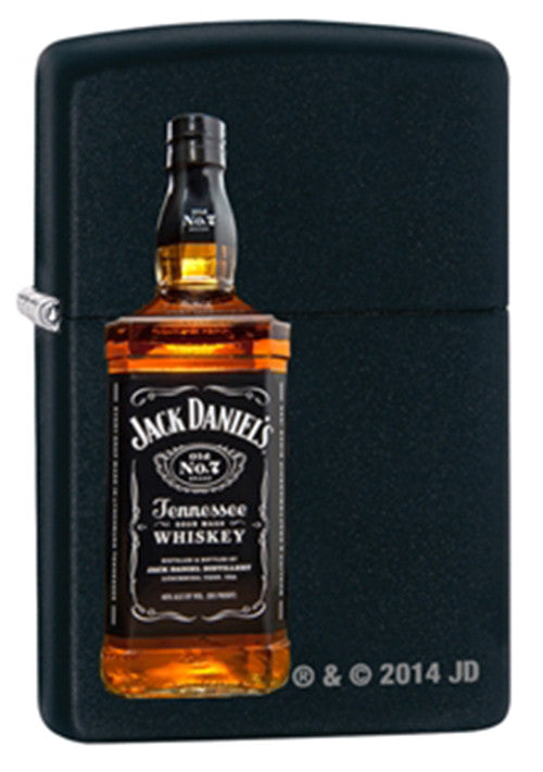 Zippo Jack Daniels Bottle Black Matte Lighter