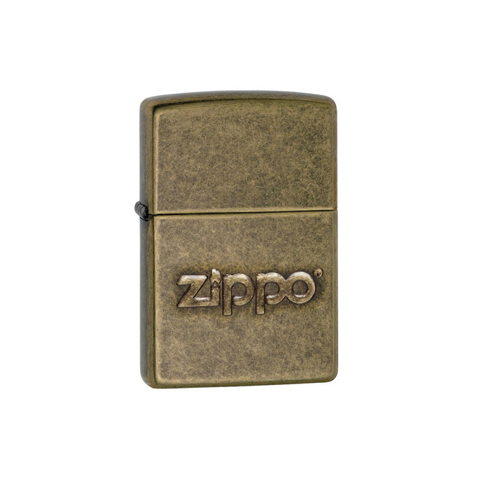 DISCONTINUED Zippo Antique Brass with Stamp Lighter