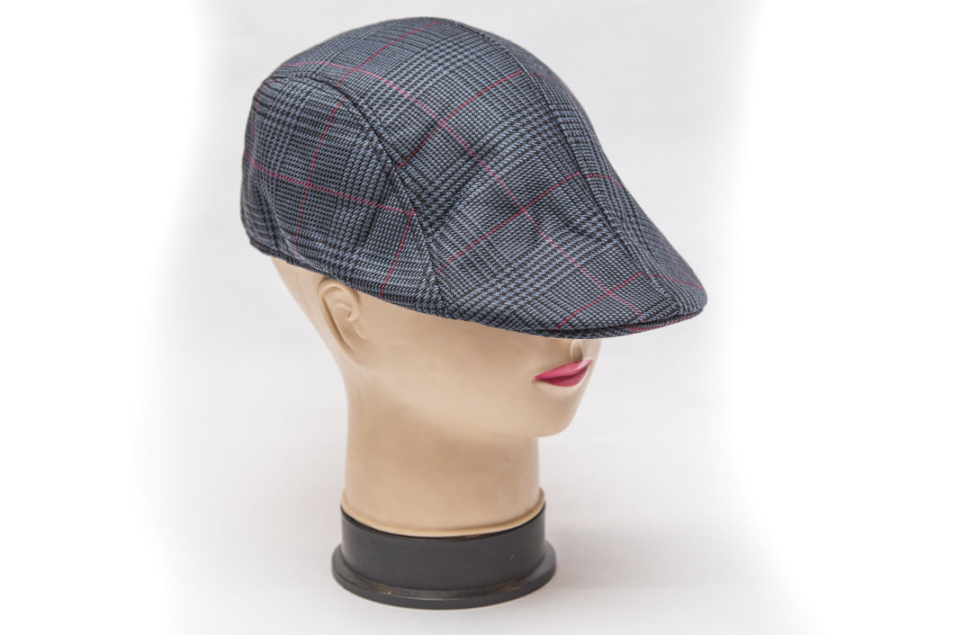 Jakkie Louw Pet - Dark Grey Red Scotch