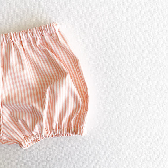 Peach Striped Bloomers