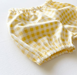 Pastel Yellow Gingham Bloomers
