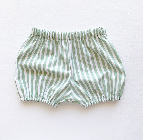 Sage Striped Bloomers