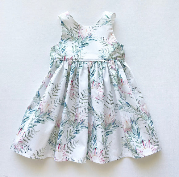 Preorder Watercolour Protea Dress