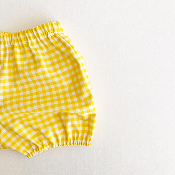 Bright Yellow Gingham Bloomers