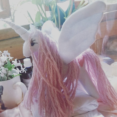 Big Pink and White Alicorn (37cm)
