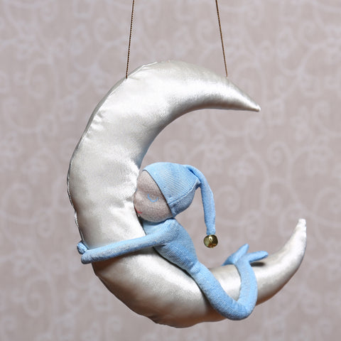 Man in the Moon Mobile in Blue (28cm)