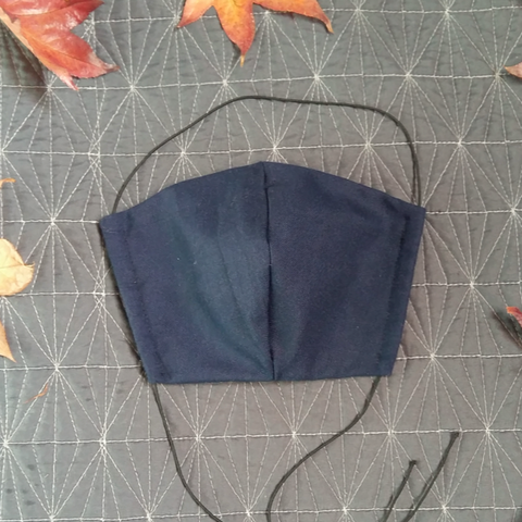 Navy Blue - Fabric Face Mask