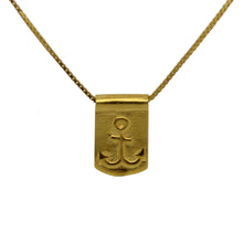 Storm Boy Label Anchor Necklace Gold