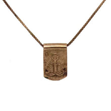 Storm Boy Label Anchor Necklace Rose Gold