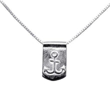 Storm Boy Label Anchor Necklace Silver