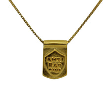 Storm Boy Label Anti Bad Tag Necklace Gold