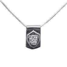 Storm Boy Label Anti Bad Tag Necklace Silver