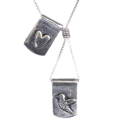 Storm Boy Label Humming To My Heart Necklace Silver