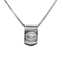 Storm Boy Label Evil Eye Necklace Silver