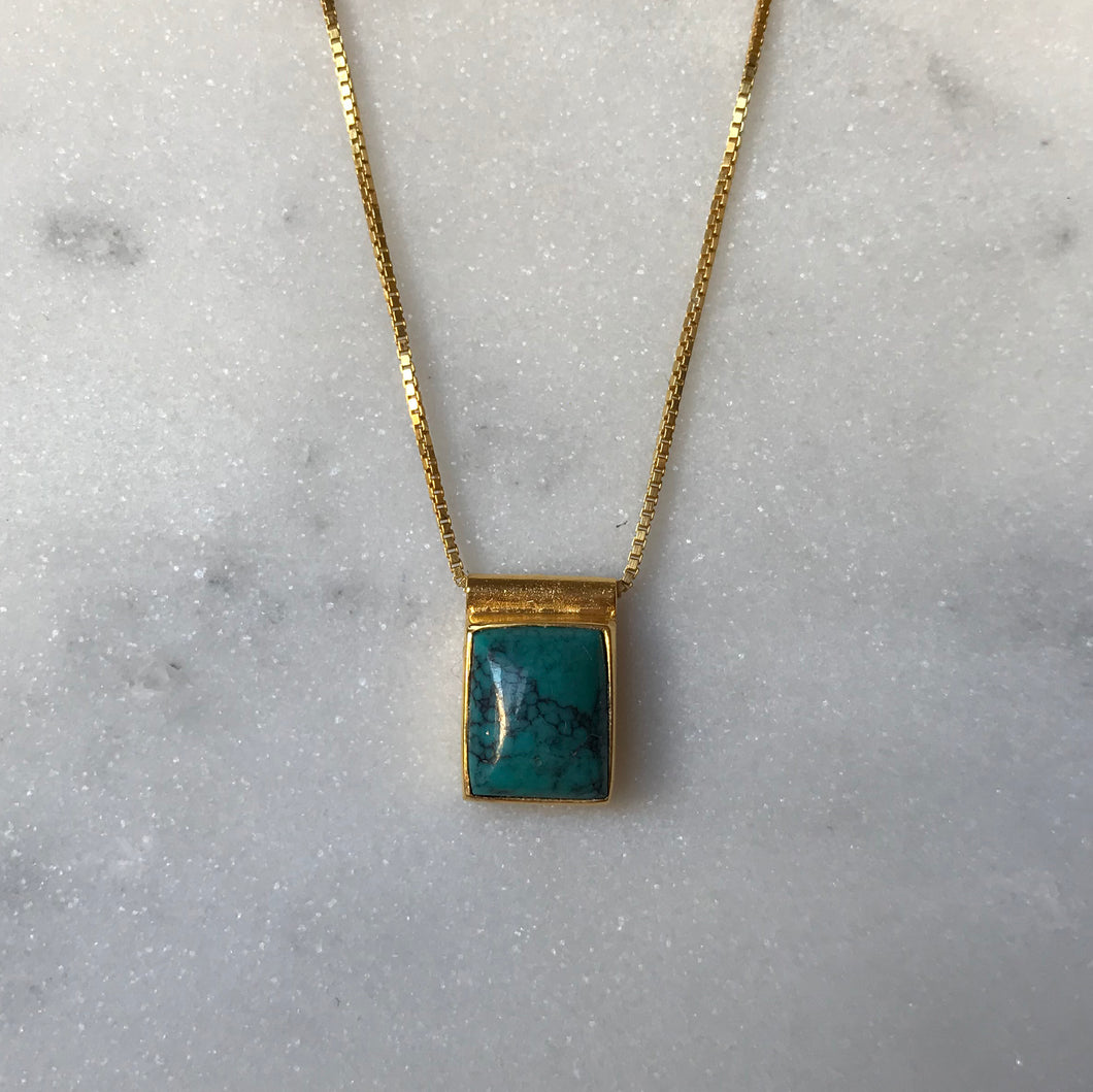 Serenity Turquoise Necklace - Gold #2