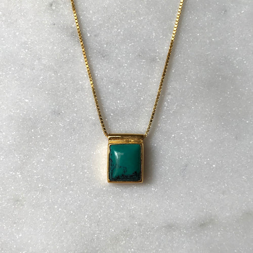 Serenity Turquoise Necklace - Gold #5