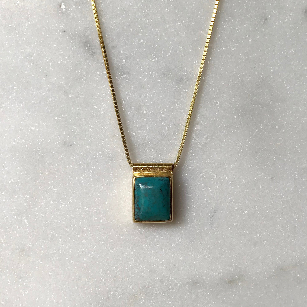 Serenity Turquoise Necklace - Gold #6