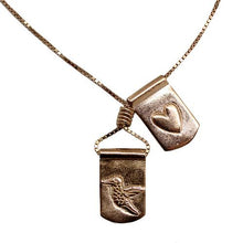 Storm Boy Label Humming To My Heart Necklace Rose Gold