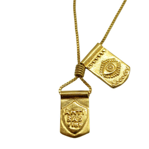 Storm Boy Label Proteger Necklace Gold