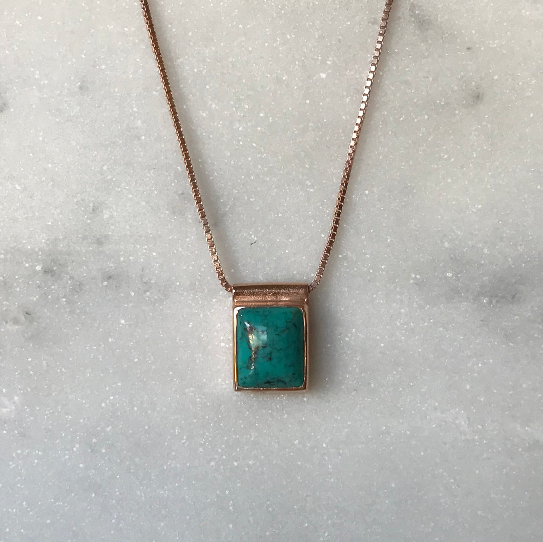 Serenity Turquoise Necklace - Rose Gold #1