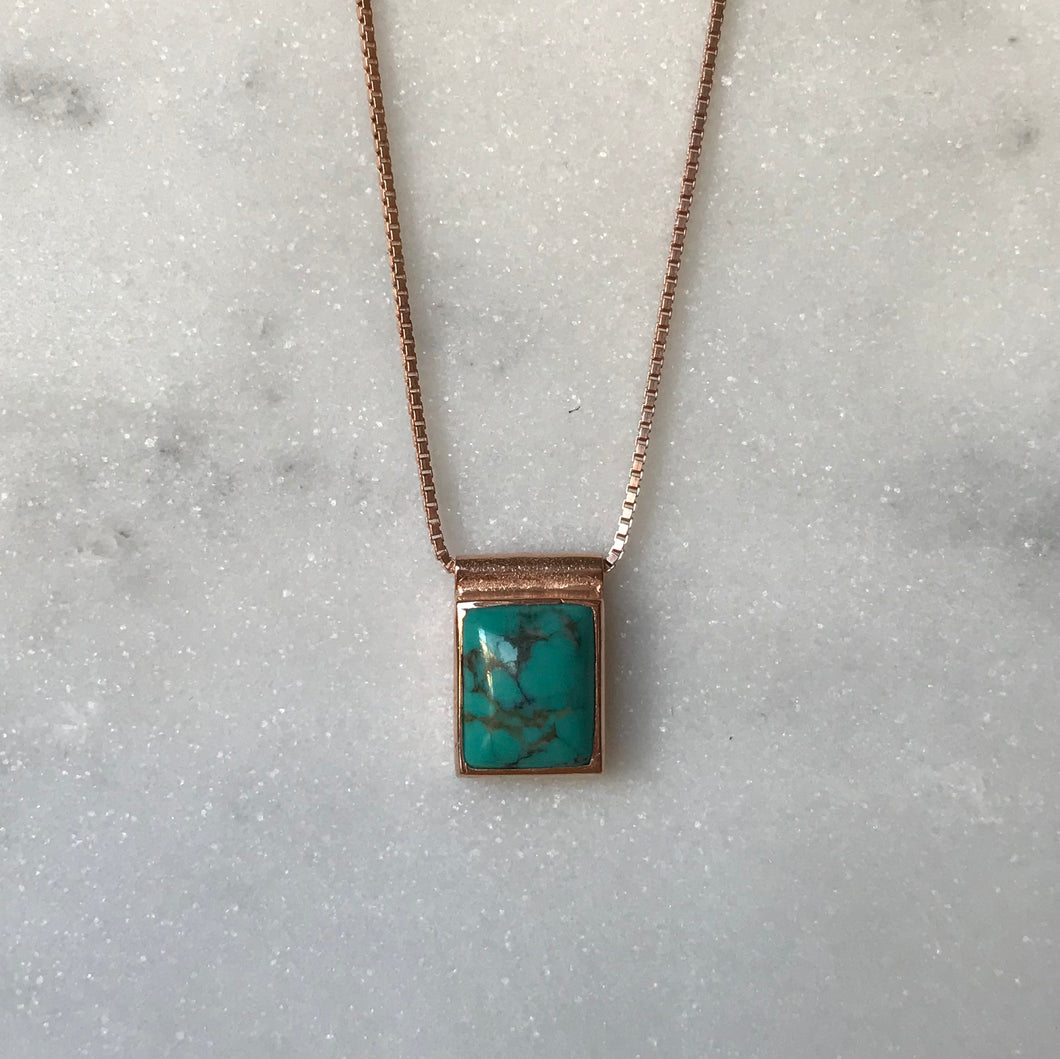 Serenity Turquoise Necklace - Rose Gold #2
