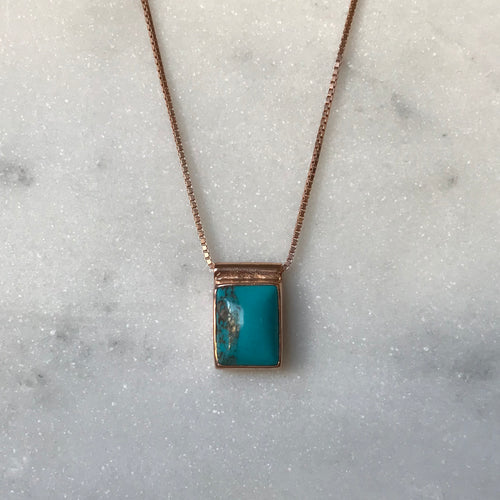Serenity Turquoise Necklace - Rose Gold #4