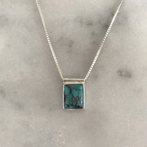 Serenity Turquoise Necklace - Silver #5