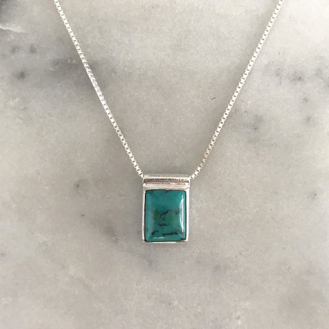 Serenity Turquoise Necklace - Silver #6
