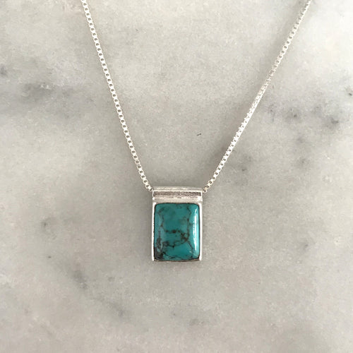 Serenity Turquoise Necklace - Silver #7