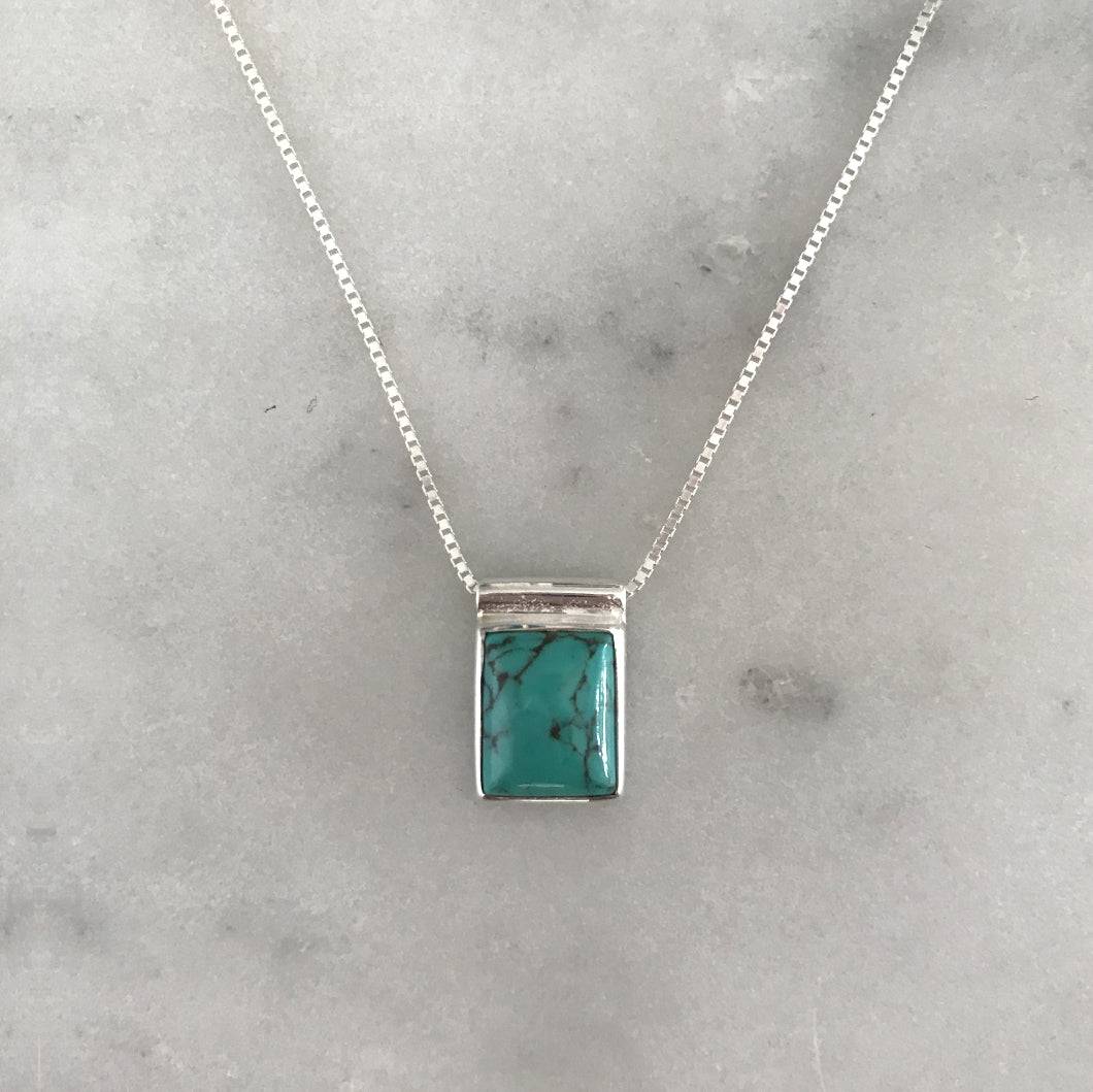 Serenity Turquoise Necklace - Silver #9